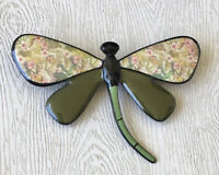 Unique vintage style  Dragonfly large brooch in enamel on metal