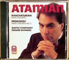 DELOS Khachaturian Prokofiev ATAMIAN Piano Concertos (CD, 1994, NO IFPI) DE-3155