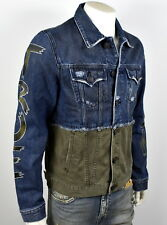 ddfc9e84520 True Religion  329 Men s Two Tone Graffiti Danny Denim Jacket - 100218