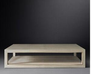 Restoration Hardware cela Shagreen Rectangular Coffee Table.  Brand New.
