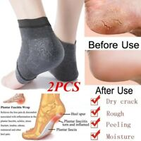 2pcs Silicone Moisturizing Gel Heel Socks Cracked Foot Skin Care Protectors