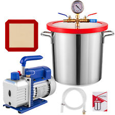 3 Gallon Vacuum Chamber 36 Cfm Single Stage Pump To Degassing Silicone Kit