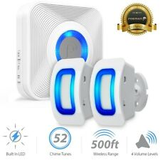 Home Security Wireless Outdoor Driveway Alarm Doorbell 2 Motion Sensor Detector