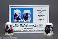 D'Day 70th Anniversary WW2 Set of 2 Ltd Ed Thimbles +Cert B/139
