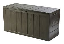 Keter Sherwood Outdoor Plastic Storage Box Garden Furniture Top Quality New