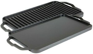 Lodge Chef Collection 19.5 x 10 Inch Cast Iron Reversible Grill/Griddle