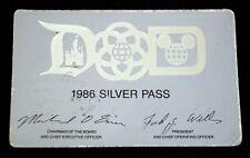DISNEYLAND 1986 Silver Pass 1955 Charter Cast Member Jim Quigley Walt Disney