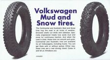 1960's Volkeswagen Mud and Snow Tires Card