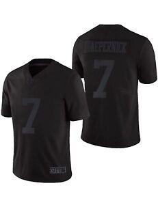 Custom NFL Nike Colin Kaepernick #7 Black Jersey Icon 2.0 Size XXL New