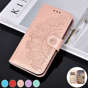 For iphone 11 Pro Max 12 Mni Case Mandala Flip Leather Wallet Card Holder Cover