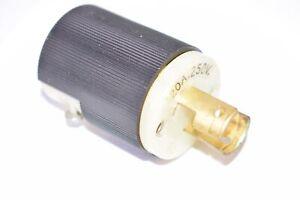 Hubbell Twist-Lock Turn & Pull 20A 250V Plug