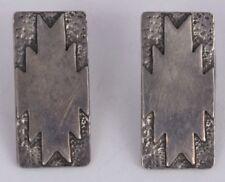 silver earrings by Mark Jimenez Vintage Navajo Native American sterling