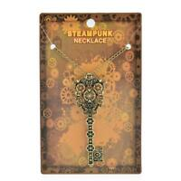Charms Steampunk Punk Necklace Key Gear Pendant Gothic Chain Personality