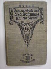 voice Gesangschule + Liedersammlung aarg. Schulen 1909