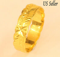 22K SOLID GOLD BAND RING FROM THAILAND SIZE 8.5 #53