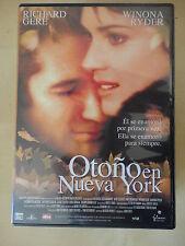 DVD Otoño en Nueva York,Richard Gere,Winona Ryder