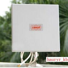 Aluminium Flat Panel Antenna 2.4Ghz 14DBI For Wireless Wifi Router Weatherproof