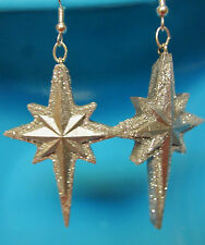 SPARKLING SILVER NORTH STAR EARRINGS CHRISTMAS SEASONAL HOLIDAY  nora winn