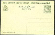 HUNGARY H & G #69, unused postal card