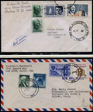 USA 1958/64 due buste viaggiate da USA a Italia (m2650)