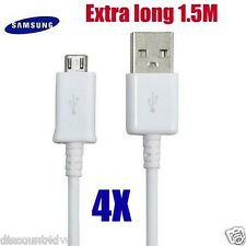 4x Samsung Datos Micro USB Conductor Cargador Cable Sincronización para Galaxy