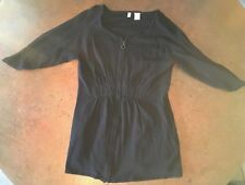 Moth Zip-up Sweater With Ruching Middle - Anthropologie Womens Size Small