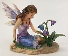 Faerie Glen Violia Fairy Purple Flowers FG832 Retired 2004 Munro