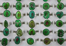 Bulk Mixed Jewelry Lots 50pcs Change Mood Color cute flower rings Adjustable