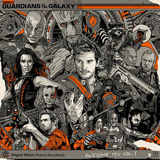 Guardians of the Galaxy Awesome Mix Vol. 1 Vinyl LP by Tyler Stout + Ronan Print