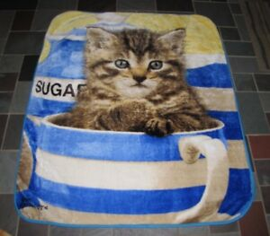The Northwest Company Greg Cuddiford Kitten in Cup Cat Plush Throw Blanket