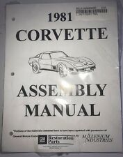 1981 CORVETTE C3 ASSEMBLY MANUAL 100'S OF PAGES OF DETAILS & ILLUSTRATIONS