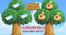 🎫ANIMAL CROSSING NEW HORIZONS - 12,000,000 BELLS + x200 NMT GIFT!🎫
