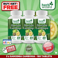 3 Pack PURE Garcinia Cambogia Extract Natural Weight Loss 70% HCA Diet Burn Fat