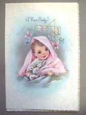 Unused new Baby butterflies vintage greeting card  *T