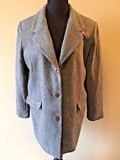 Roamans Gray 100% Wool Lined 3-Button Career Blazer Jacket Plus size A4 2X CJ12