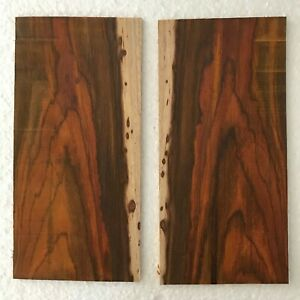 COCOBOLO HEADPLATES - LOT OF 2 FOR CLASSICAL OR ACOUSTIC GUITAR BOOKMATCHED