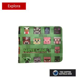New Minecraft  Faux Leather Wallet  with Coin Pouch - 7