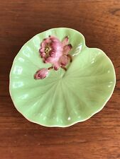 Rare Vintage Shorter and Son Water Lily Pad Flower Dish 1940's Hand Painted