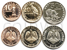 South Sudan 3 coins set 2015 Animals UNC (#2640)