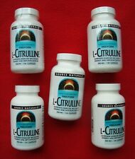 Source Naturals Free-Form L-Citrulline 500 mg 120 Capsules Pack Of 5 Bottles