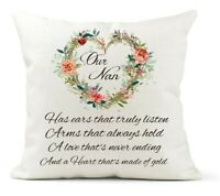 Handmade PERSONALISED Embroidered Cushion GRANDMA NANNY NANA GRAN Present Gift
