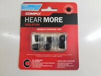 Comply Isolation T-400 Memory Foam Earphone Tips Noise Cancelling Soft Replacement Earbud Tips Medium, 3 Pairs Secure Fit