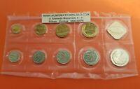 RUSSIA 1988 KMS Leningrad Mint Goznak 9 COINS Brilliant Set URSS CCCP Rusland