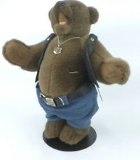 Harley Davidson Collector Plush Teddy Bear FRANKLIN MINT HEIRLOOM With Stand.