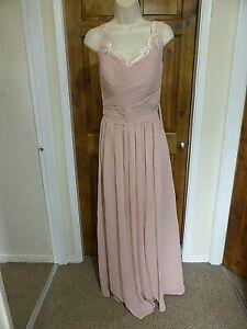 Pretty pink chiffon lace detail evening dress from Babyonline size 16