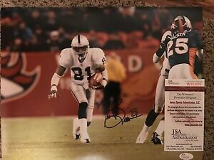 Tim Brown Signed Oakland Raiders  11x14 Photo with JSA/COA