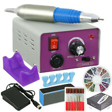Electric Nail File Drill Acrylic Tips Art Kit Manicure Pedicure Machine US