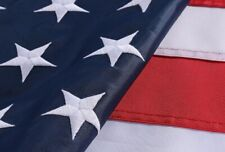 New listing 6x10' ft American Flag Sewn Stripes Embroidered Stars Brass Grommets Usa Us U.S.