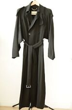 Paul Smith Black Belted Trench Coat Size 42 STUNNING!
