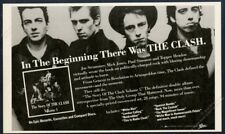 1988 The Clash photo Story of The Clash album release vintage print ad